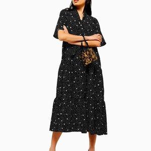 NWT Topshop Polka-dot Midi Dress